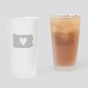 Heart Pennsylvania Drinking Glass