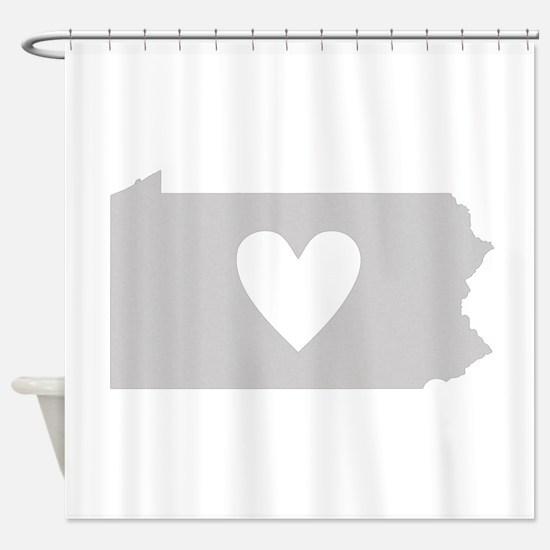 Heart Pennsylvania Shower Curtain