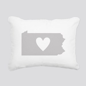 Heart Pennsylvania Rectangular Canvas Pillow