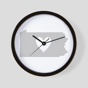 Heart Pennsylvania Wall Clock