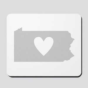 Heart Pennsylvania Mousepad