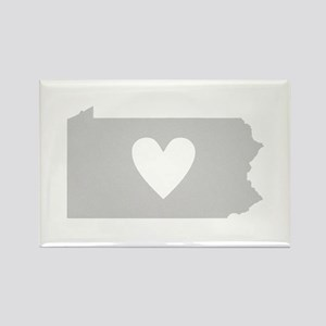 Heart Pennsylvania Rectangle Magnet