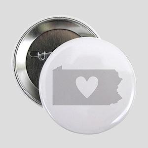"""Heart Pennsylvania 2.25"""" Button"""