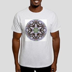 Badger Mandala Ash Grey T-Shirt