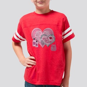 ItsAGirlThingPink7x7 Youth Football Shirt