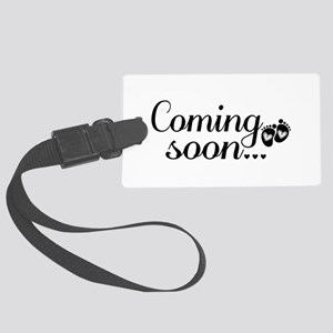 Coming Soon - Baby Footprints Large Luggage Tag