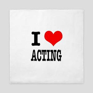 I Heart (Love) Acting Queen Duvet