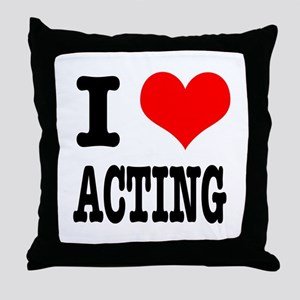 I Heart (Love) Acting Throw Pillow