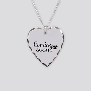 Coming Soon - Baby Footprints Necklace Heart Charm