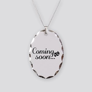 Coming Soon - Baby Footprints Necklace Oval Charm