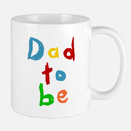 Primary Color Text Dad To Be Mug