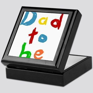 Primary Color Text Dad To Be Keepsake Box