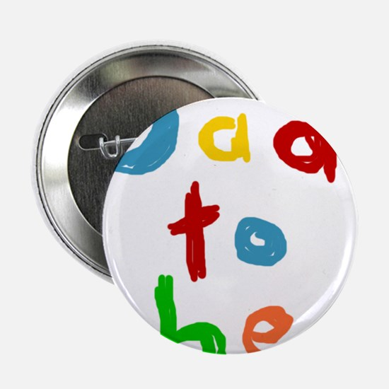 """Primary Color Text Dad To Be 2.25"""" Button"""