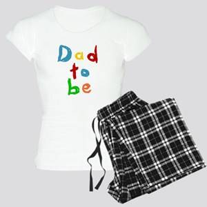 Primary Color Text Dad To Be Pajamas