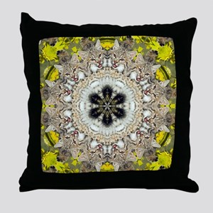 Bobcat Mandala Throw Pillow