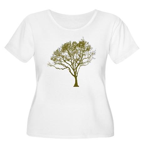 Tree (green) Women's Plus Size Scoop Neck T-Shirt