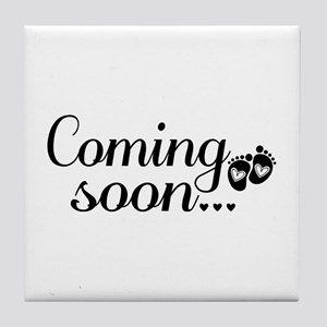Coming Soon - Baby Footprints Tile Coaster