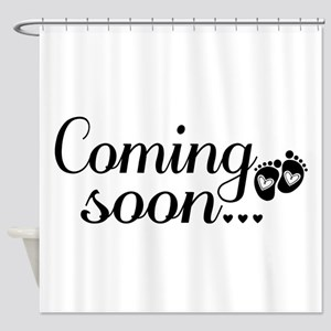 Coming Soon - Baby Footprints Shower Curtain