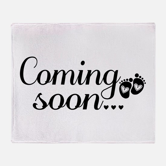 Coming Soon - Baby Footprints Throw Blanket