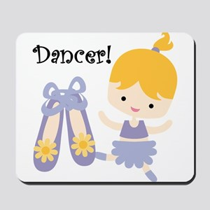Blond Girl Dancer Mousepad