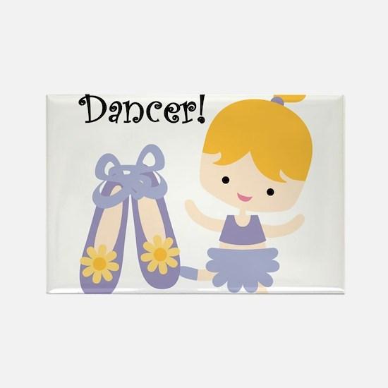 Blond Girl Dancer Rectangle Magnet