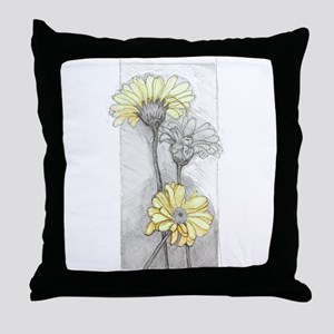 Three Gerbera Throw Pillow