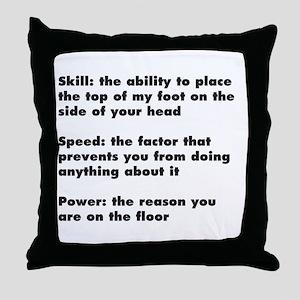 Martial Arts kick Shirt Throw Pillow