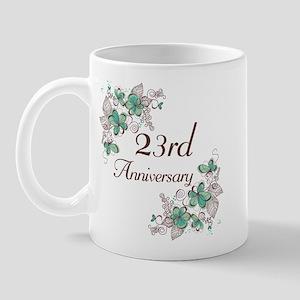 23rd Anniversary Floral Mug