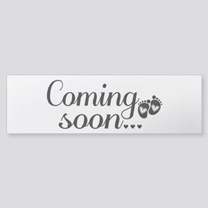 Coming Soon - Baby Footprints Bumper Sticker