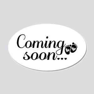 Coming Soon - Baby Footprints Wall Sticker