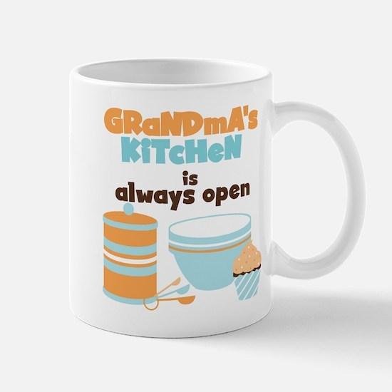 Grandmas Kitchen Always Open Mug