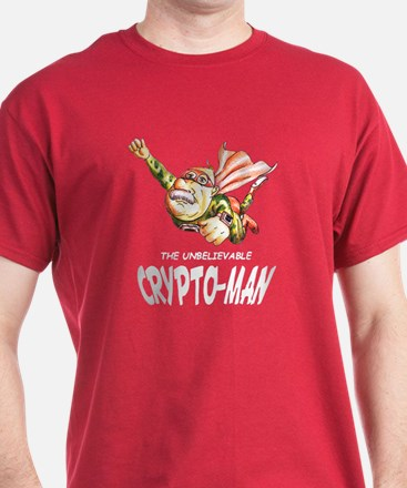 Flying Crypto-Man Red T-Shirt