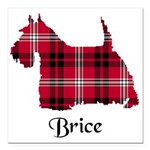 Terrier - Brice Square Car Magnet 3