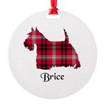 Terrier - Brice Round Ornament