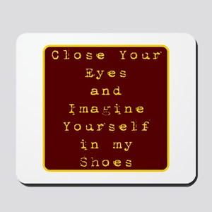 Close Eyes Mousepad
