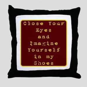 Close Eyes Throw Pillow