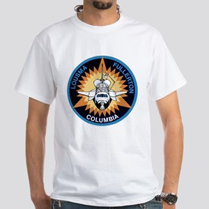 STS-3 Columbia White T-Shirt