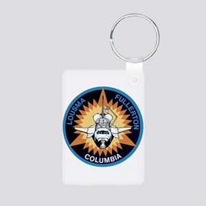 STS-3 Columbia Aluminum Photo Keychain
