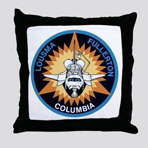STS-3 Columbia Throw Pillow