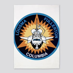 STS-3 Columbia 5'x7'Area Rug