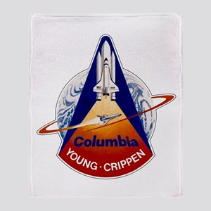 STS-1 Columbia Throw Blanket