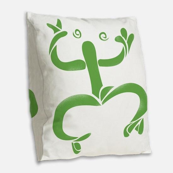 El Coqui Burlap Throw Pillow