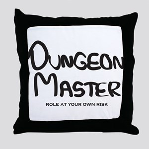 Dungeon Master - Role At Your Own Risk Throw Pillo