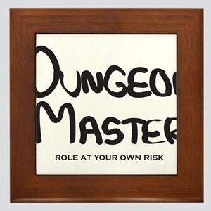 Dungeon Master - Role At Your Own Risk Framed Tile