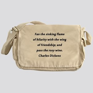 Fan the Sinking Flame Dickens Messenger Bag