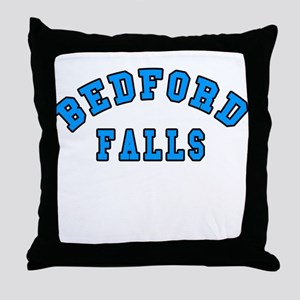 Bedford Falls Blue Throw Pillow