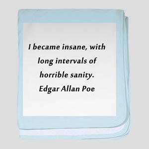 I Became Insane Poe baby blanket