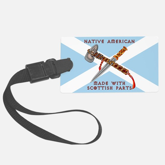 Native American/Scots Luggage Tag