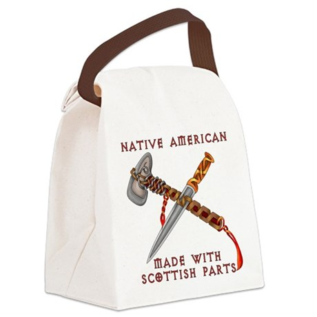 Native American/Scots Canvas Lunch Bag