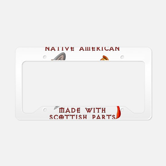 Native American/Scots License Plate Holder